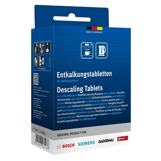 BS 311893 - Таблетки от накипи для кофемашин, двойная упаковка (12шт.) ( замена для 311557 ) к кофеваркам и кофемашинам Bosch, Siemens, Neff, Gaggenau (Бош, Сименс, Гагенау, Нефф)
