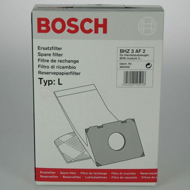 "BS 460445 - BS 460445 Пылесборник Тип ""L"" 8шт к пылесосам Bosch, Siemens, Neff, Gaggenau (Бош, Сименс, Гагенау, Нефф)"