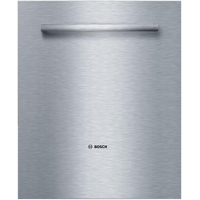 BS 573555 - Навесной фасад дверцы, нерж. сталь, с ручкой к посудомоечным машинам Bosch, Siemens, Neff, Gaggenau (Бош, Сименс, Гагенау, Нефф)