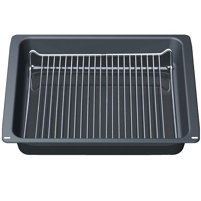 BS 660110 - HEZ343000 Глубокий профи-противень с решёткой к плитам, варочным поверхностям, духовым шкафам Bosch, Siemens, Neff, Gaggenau (Бош, Сименс, Гагенау, Нефф)