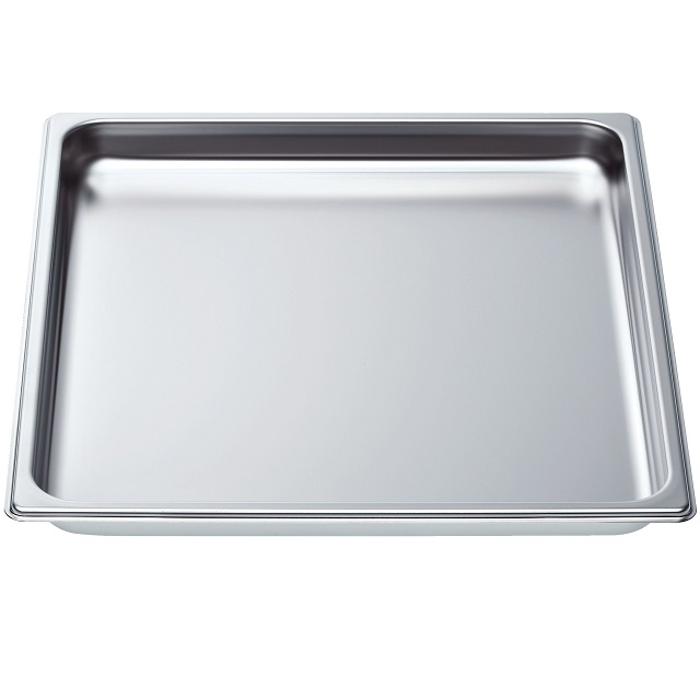 BS 664949 - HEZ36D352 Противень формата 2/3  гладкий к плитам, варочным поверхностям, духовым шкафам Bosch, Siemens, Neff, Gaggenau (Бош, Сименс, Гагенау, Нефф)