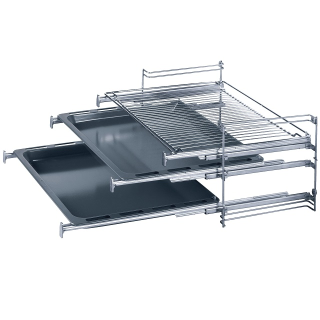 BS 708430 - HEZ338251 Телескопические направляющие для 3-х уровней, с полным выдвижением к плитам, варочным поверхностям, духовым шкафам Bosch, Siemens, Neff, Gaggenau (Бош, Сименс, Гагенау, Нефф)