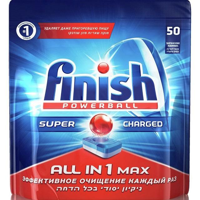 BS 17001602 - BS 17001602 Таблетки FINISH All in 1 Max 50 шт. к посудомоечным машинам Bosch, Siemens, Neff, Gaggenau (Бош, Сименс, Гагенау, Нефф)
