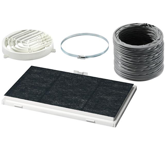 BS 17002002 - DSZ4545 Комплект для работы вытяжки в режиме циркуляции воздуха ( замена для 578523 ) к плитам, варочным поверхностям, духовым шкафам Bosch, Siemens, Neff, Gaggenau (Бош, Сименс, Гагенау, Нефф)