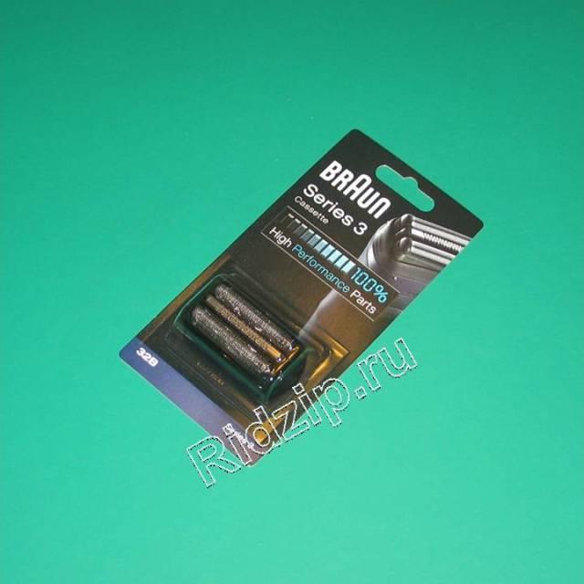 BR 81387950 - Сетка+режущий блок Braun 32B (цвет черный) к бритвам Braun (Браун)