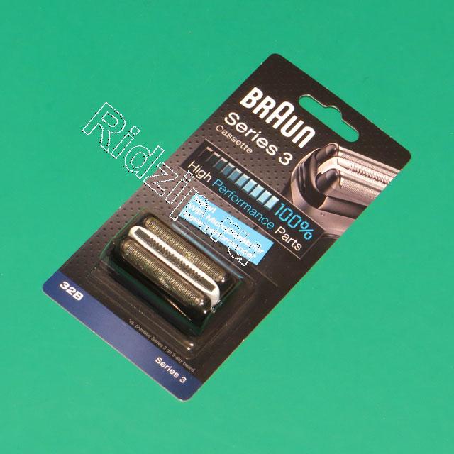 BR 81483728 - Сетка + режущий блок  32B Braun  (цвет черный) к бритвам Braun (Браун)