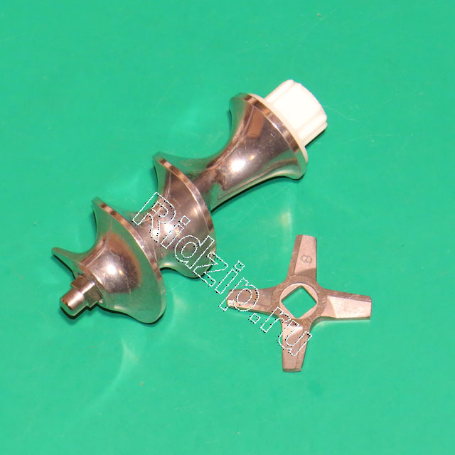BS 12019443 - BS 12019443 Шнек + нож ( старый код BS 12000133 ) к мясорубкам Bosch, Siemens, Neff, Gaggenau (Бош, Сименс, Гагенау, Нефф)