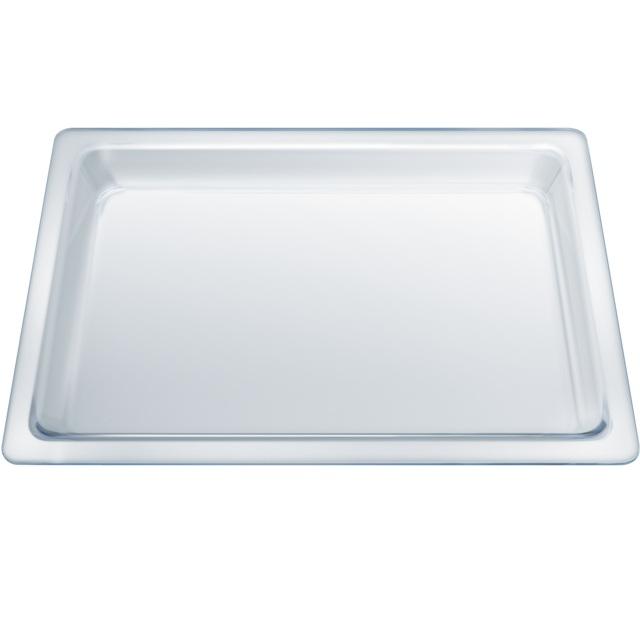 BS 17000305 - HEZ636000 Противень стеклянный  глубина 25мм к плитам, варочным поверхностям, духовым шкафам Bosch, Siemens, Neff, Gaggenau (Бош, Сименс, Гагенау, Нефф)