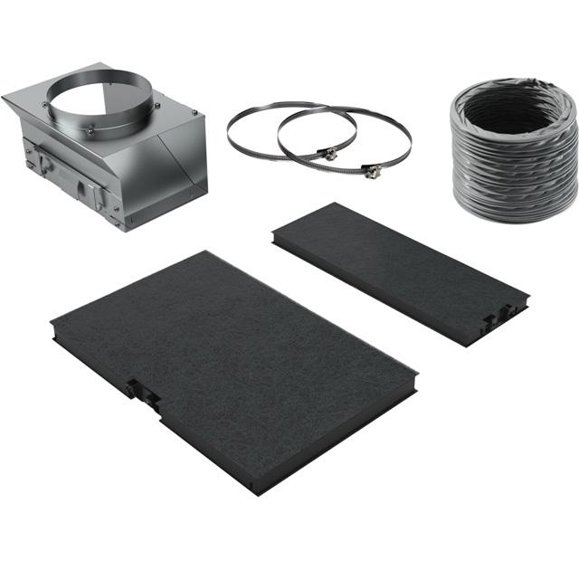 BS 17000709 - Комплект для работы вытяжки в режиме циркуляции воздуха к вытяжкам Bosch, Siemens, Neff, Gaggenau (Бош, Сименс, Гагенау, Нефф)