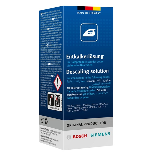 BS 311972 - BS 311972 Жидкость от накипи для утюгов ( замена для 311715 311144 ) к утюгам Bosch, Siemens, Neff, Gaggenau (Бош, Сименс, Гагенау, Нефф)