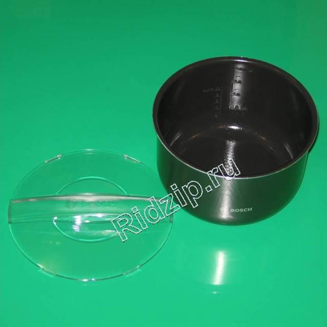 BS 578596 - Чаша (алюминий) с керамическим покрытием  4л  для MUC24/28.. к мультеварке Bosch, Siemens, Neff, Gaggenau (Бош, Сименс, Гагенау, Нефф)