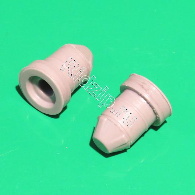 BS 633025 - Заглушки кюветы, 2шт., для F20/F24 iDos, серые, силиконовые VMQ-60 к стиральным машинам Bosch, Siemens, Neff, Gaggenau (Бош, Сименс, Гагенау, Нефф)