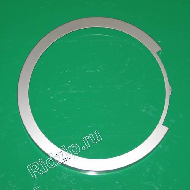 BS 673907 - Обрамление люка внешнее серебристое к стиральным машинам Bosch, Siemens, Neff, Gaggenau (Бош, Сименс, Гагенау, Нефф)