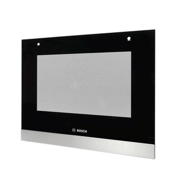 BS 713391 - Внешнее стекло духовго шкафа, цвет чёрный/INOX, для HBN331.., HBN559. к плитам, варочным поверхностям, духовым шкафам Bosch, Siemens, Neff, Gaggenau (Бош, Сименс, Гагенау, Нефф)