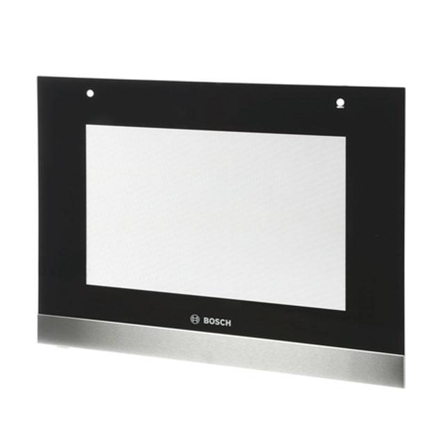 BS 742383 - Внешнее стекло духовки, цвет чёрный/нерж. сталь, для HBA..,, HBG.. к плитам, варочным поверхностям, духовым шкафам Bosch, Siemens, Neff, Gaggenau (Бош, Сименс, Гагенау, Нефф)
