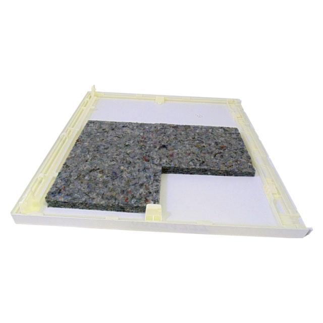 BS 771777 - Верхняя крышка с изоляционным материалом, белая, к сушильным шкафам Bosch, Siemens, Neff, Gaggenau (Бош, Сименс, Гагенау, Нефф)