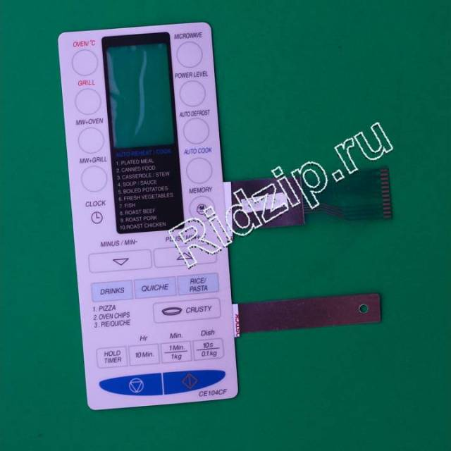 CE104CF - Панель управления сенсорная ( мембрана ) к микроволновым печам, СВЧ Samsung (Самсунг)