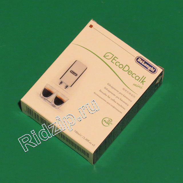 DL 5513296021 - Антинакипин EcoDecalk mini 2 x100 ml к кофеваркам и кофемашинам DeLonghi (ДеЛонги)