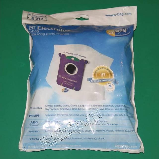 EL 9001660084 - Пылесборники ( мешки ) E-210 S-bag 3 шт. к пылесосам Electrolux, Zanussi, Aeg (Электролюкс, Занусси, Аег)