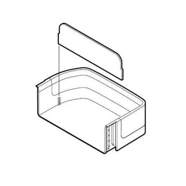 SH FPOK-A323CBKZ - Нижний правый балкон в сборе к холодильникам Sharp (Шарп)