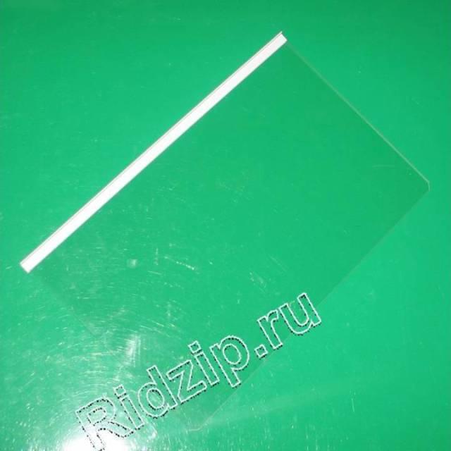 L257748 - Полка стеклянная над ящиками для фруктов (320x496x4 мм.), зам. 850921, 850903  к холодильникам Indesit, Ariston (Индезит, Аристон)