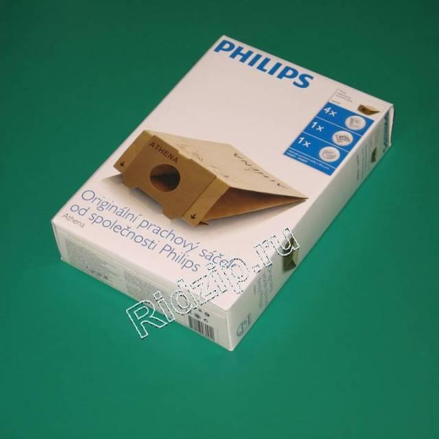 PS HR6947 - Мешки ( пылесборники ) 4 шт. TRIATLON к пылесосам Philips (Филипс)