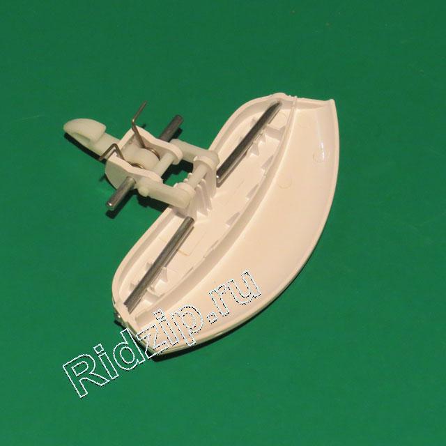 V 42038993 - Ручка люка белая в сборе к стиральным машинам Vestel, Sanyo, Regal (Вестел, Саньо, Регал)